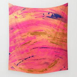 Phoenixes Are Pink And Gold All Over (town) Wall Tapestry
