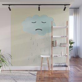 Sad Cloud Wall Mural
