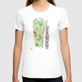 VERMONT map T-shirt