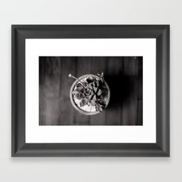 Black and White Succulent Framed Art Print