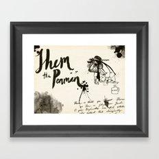 Shem the Penman Framed Art Print