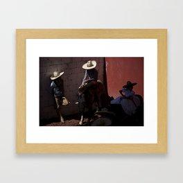 Charros Framed Art Print