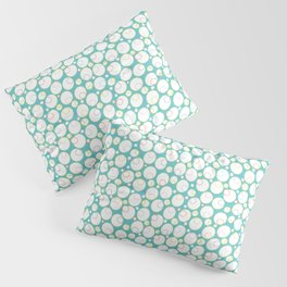 Mini Water Bubbles in Teal Pillow Sham