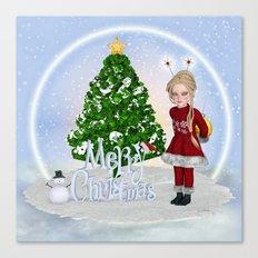 Santa's Littlest Helper Canvas Print