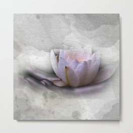 the nature in your hand Metal Print