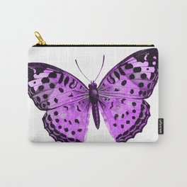 Luxurious Lilac-Pink Butterfly Carry-All Pouch