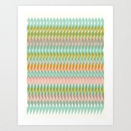 Shard Hand-Print Geometric - Meadow Art Print