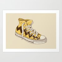 chuck Art Prints featuring Chuck by Terry Fan