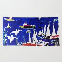 The Marina, Southport, Qld. AUSTRALIA Beach Towel