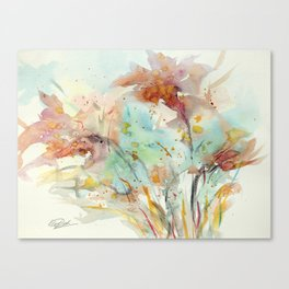 Autumn (abstract watercolor) Canvas Print