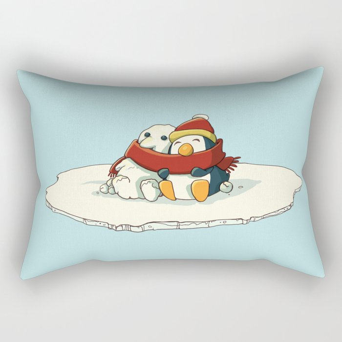 Penguin snowfriends Rectangular Pillow
