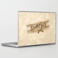 airplane Laptop & iPad Skins featuring Airplane by LaDa