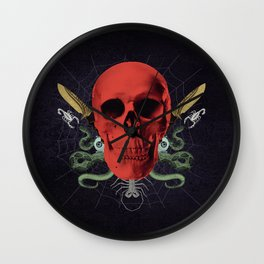 Faces Of Death Wall Clock