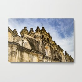 View of the Top of the Catholic Church Iglesia La Merced, Granada, Nicaragua Metal Print
