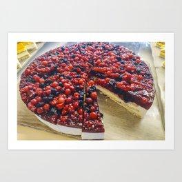 Cheesecake of red fruits Art Print
