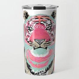 Pink Tiger Collage Travel Mug