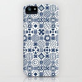 Indigo tiles iPhone Case