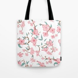 Creepy Flowers Pattern Tote Bag