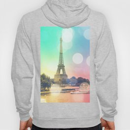 Paris. : Pastel Rainbow Bokeh Hoody
