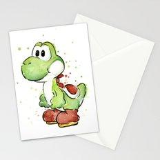 Yoshi Watercolor Mario Stationery Cards