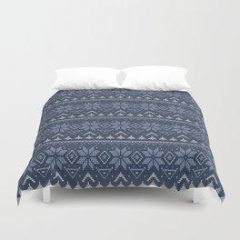 scandinavian knitting ornament 3 Duvet Cover