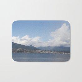 Vancouver Harbour north shore mist Bath Mat
