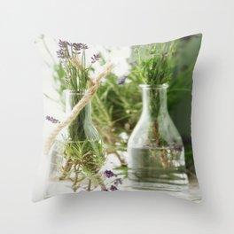 Summer Lavender Still life Throw Pillow