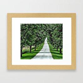White Drive Avenue Airbrush Artwork Framed Art Print