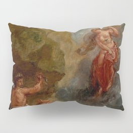 """Eugène Delacroix """"Winter from a series of the Four Seasons (Juno and Aeolus)"""" Pillow Sham"""