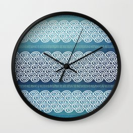 Abstract Ocean Waves Pattern Wall Clock