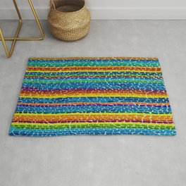Classical African-American Masterpiece 'Wind, Sunshine & Flowers' by Alma Thomas Rug