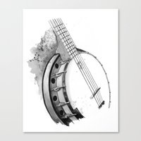 banjo Canvas Prints featuring Banjo by Ashley Silvernell Quick