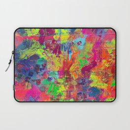 Colorful Abstract Relief Impaso Textured Painting - Detail after my artwork Dischromy 10 Laptop Sleeve