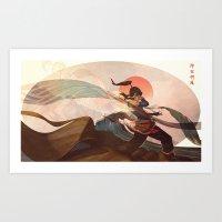 spiritual Art Prints featuring Spiritual State by Caleb Thomas