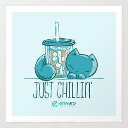 Skribbles: Just chillin' Art Print