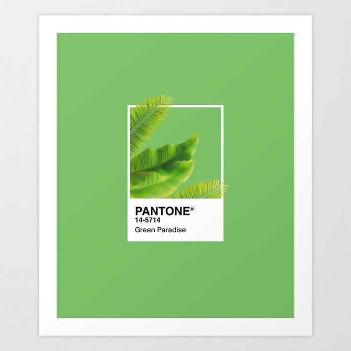 Pantone Series –Green Paradise Art Print