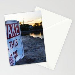 No Wake Zone Stationery Cards