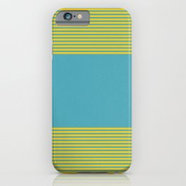 Blue and yellow stripes iPhone Case