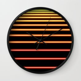 Red to Yellow Neon Wall Clock