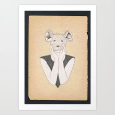 Mouse Girl Art Print