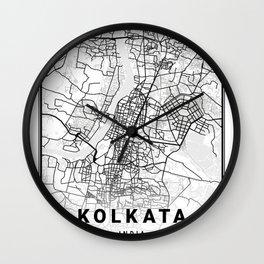 Kolkata Light City Map Wall Clock