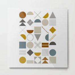 Mid West Geometric 01 Metal Print