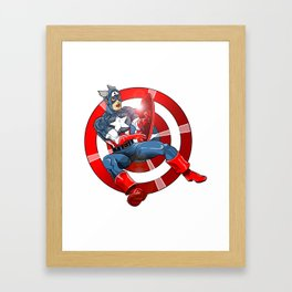 Captain America - Win or Lose Framed Art Print