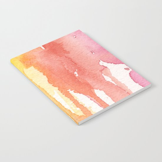 Rainbow Watercolor Texture Pattern Abstract Notebook