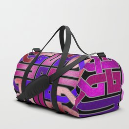 Pink Celtic Knot Square Duffle Bag
