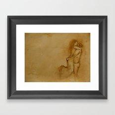 the love story Framed Art Print