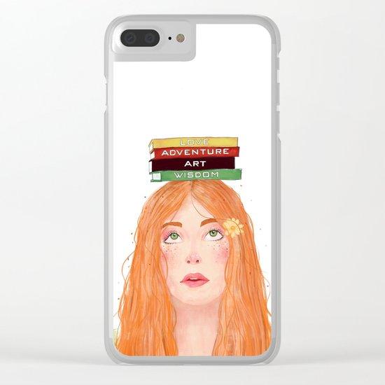 Book girl 02 Clear iPhone Case