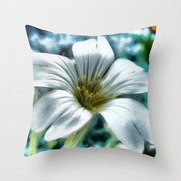 The Little White Flower Throw Pillow