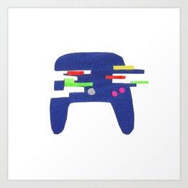 Glitch Controller Art Print
