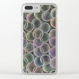 Colorful spiraled coils Clear iPhone Case